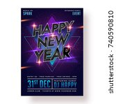 happy new year party poster ... | Shutterstock .eps vector #740590810