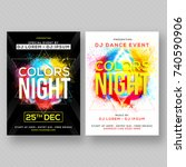 party banner or flyer with two... | Shutterstock .eps vector #740590906