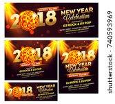 collection of social media... | Shutterstock .eps vector #740593969