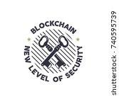 blockchain   new level of... | Shutterstock .eps vector #740595739