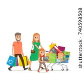 the history of our shopping... | Shutterstock . vector #740598508