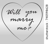 iron badge you will marry me | Shutterstock .eps vector #740598628