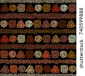 ethnic boho seamless pattern in ... | Shutterstock .eps vector #740599888