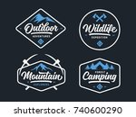 set of outdoor wild life... | Shutterstock .eps vector #740600290