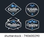 set of outdoor wild life... | Shutterstock .eps vector #740600290