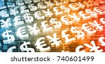 foreign exchange or forex as a... | Shutterstock . vector #740601499
