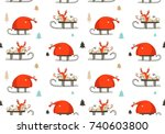 hand drawn vector abstract fun... | Shutterstock .eps vector #740603800