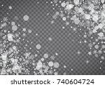 blizzard snowflake on... | Shutterstock .eps vector #740604724