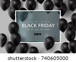 black friday  big sale  black... | Shutterstock .eps vector #740605000
