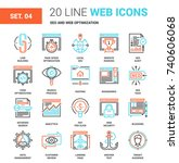 seo and web optimization   Shutterstock .eps vector #740606068