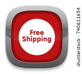 free shipping icon | Shutterstock .eps vector #740611654