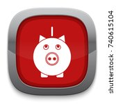 pig bank icon | Shutterstock .eps vector #740615104