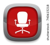 office chair icon | Shutterstock .eps vector #740615218