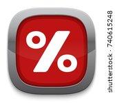 percentage icon   Shutterstock .eps vector #740615248