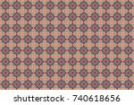 raster seamless rhombus and... | Shutterstock . vector #740618656