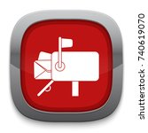 mail box icon   Shutterstock .eps vector #740619070