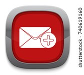 mail add icon   Shutterstock .eps vector #740619160