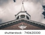 Isolated Church Steeple....