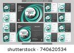 desk calendar 2018 template  ... | Shutterstock .eps vector #740620534