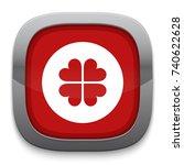 luck icon | Shutterstock .eps vector #740622628