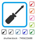 screwdriver icon. flat grey...