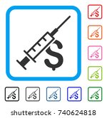narcotic business icon. flat... | Shutterstock .eps vector #740624818