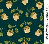 seamless pattern with the...   Shutterstock .eps vector #740625418