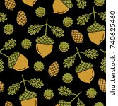 seamless pattern with the...   Shutterstock .eps vector #740625460