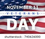 veterans day banner with us... | Shutterstock .eps vector #740626000