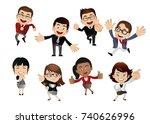 businesspeople set | Shutterstock .eps vector #740626996