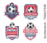 soccer sports club or football... | Shutterstock .eps vector #740627548