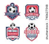 soccer sports club or football... | Shutterstock .eps vector #740627548