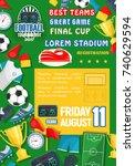 soccer goal score table or... | Shutterstock .eps vector #740629594