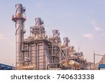 natural gas combined cycle... | Shutterstock . vector #740633338