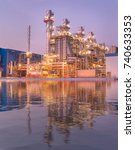 natural gas combined cycle...   Shutterstock . vector #740633353