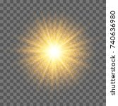 golden glowing star with... | Shutterstock .eps vector #740636980