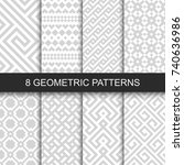 set of vector geometric... | Shutterstock .eps vector #740636986