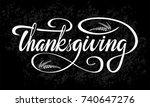 thanksgiving vector style... | Shutterstock .eps vector #740647276