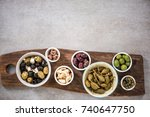 close up view pn spanish tapas. ... | Shutterstock . vector #740647750
