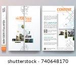 portfolio design vector.... | Shutterstock .eps vector #740648170