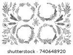 hand sketched vector... | Shutterstock .eps vector #740648920