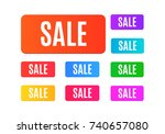set of sale tags. colorful... | Shutterstock .eps vector #740657080