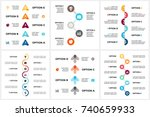 vector circle arrows timeline... | Shutterstock .eps vector #740659933