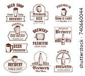 beer shop  brewery bar or pub... | Shutterstock .eps vector #740660044