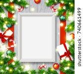 vector empty mock up poster...   Shutterstock .eps vector #740661499