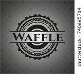 waffle black emblem | Shutterstock .eps vector #740665714