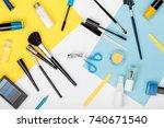 set of professional decorative... | Shutterstock . vector #740671540