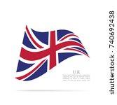 united kingdom national flag...   Shutterstock .eps vector #740692438