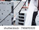 cleanliness of plastic pallet... | Shutterstock . vector #740693320