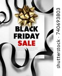 black friday sale discount... | Shutterstock .eps vector #740693803